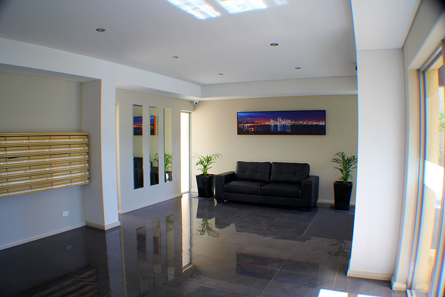 foyer entry for block of flats