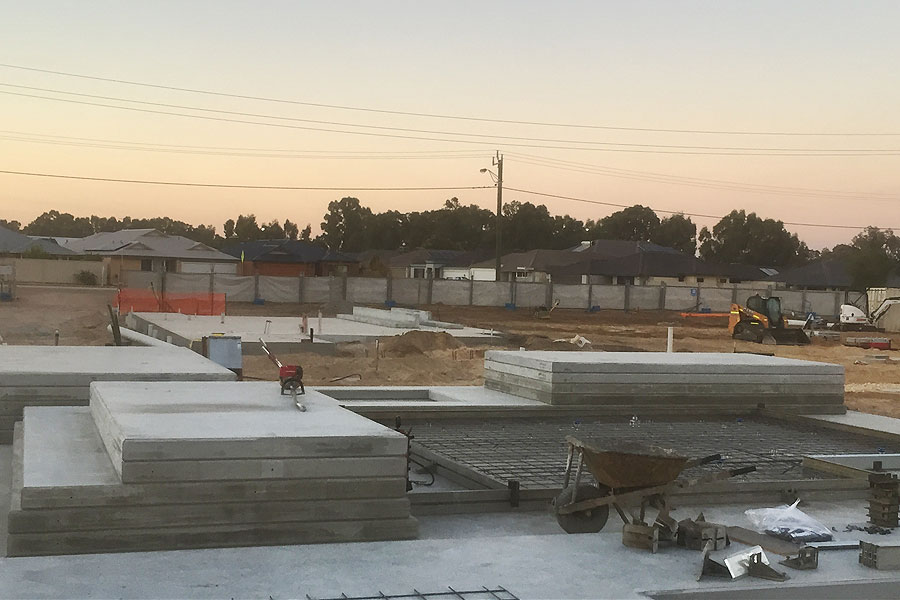 concrete slabs, footings and tilt panel construction