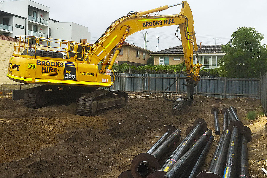 drilling holes for footings and pipes