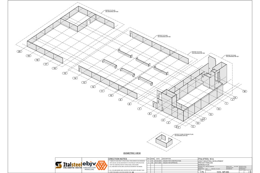 three dimensional plan of building construction