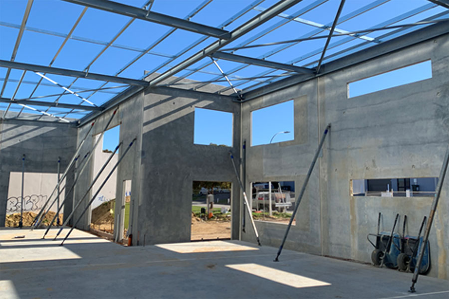 tilt-up concrete panels with windows